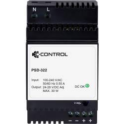 C-Control PSD-322 napajanje za din-letev Poraba (stanje pripravljenosti) 0.3 W 24 V/DC 1.25 A 30 W 1 x