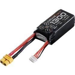 DroneArt LiPo akumulatorski paket za modele 11.1 V 1300 mAh Število celic: 3 75 C Mehka torba XT60