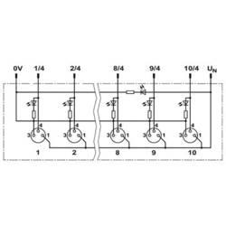 Sensorska/aktivatorska kutija aktivna M12 razdjelnik s metalnim navojem SACB- 8/3-L-M12-M8 1434840 Phoenix Contact 1 ST