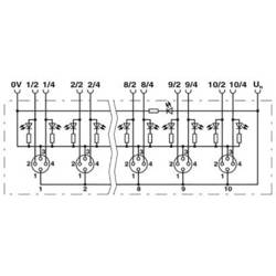 Pribor M8 razdjelnik s metalnim navojem SACB- 8/4-L-C-M8 1503467 Phoenix Contact 1 ST