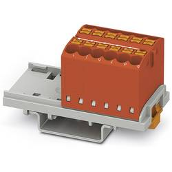 Phoenix Contact PTFIX 12X2,5-NS35 RD 3273026 Razdelilni blok 0.14 mm² 2.50 mm² Rdeča 8 KOS
