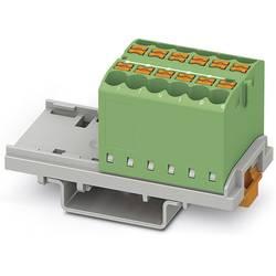 Phoenix Contact PTFIX 12X2,5-NS35 GN 3273030 Razdelilni blok 0.14 mm² 2.50 mm² Zelena 8 KOS
