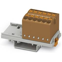 Phoenix Contact PTFIX 12X2,5-NS35 BN 3273032 Razdelilni blok 0.14 mm² 2.50 mm² Rjava 8 KOS