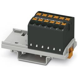 Phoenix Contact PTFIX 12X2,5-NS35 BK 3273036 Razdelilni blok 0.14 mm² 2.50 mm² Črna 8 KOS