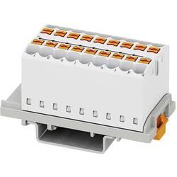Phoenix Contact PTFIX 18X2,5-NS35 WH 3273056 Razdelilni blok 0.14 mm² 2.50 mm² Bela 8 KOS