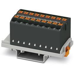 Phoenix Contact PTFIX 18X2,5-NS35 BK 3273058 Razdelilni blok 0.14 mm² 2.50 mm² Črna 8 KOS