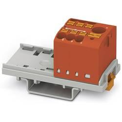 Phoenix Contact PTFIX 6/6X2,5-NS35 RD 3273070 Razdelilni blok 0.14 mm² 2.50 mm² Rdeča 10 KOS