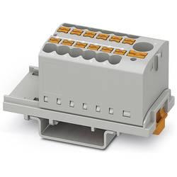 Phoenix Contact PTFIX 6/12X2,5-NS35 GY 3273088 Razdelilni blok 0.14 mm² 2.50 mm² Siva 8 KOS