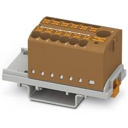 Phoenix Contact PTFIX 6/12X2,5-NS35 BN 3273098 Razdelilni blok 0.14 mm² 2.50 mm² Rjava 8 KOS