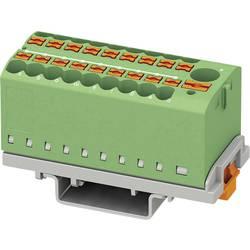 Phoenix Contact PTFIX 6/18X2,5-NS35 GN 3273118 Razdelilni blok 0.14 mm² 2.50 mm² Zelena 8 KOS