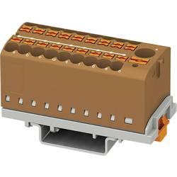 Phoenix Contact PTFIX 6/18X2,5-NS35 BN 3273120 Razdelilni blok 0.14 mm² 2.50 mm² Rjava 8 KOS