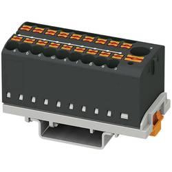 Phoenix Contact PTFIX 6/18X2,5-NS35 BK 3273124 Razdelilni blok 0.14 mm² 2.50 mm² Črna 8 KOS