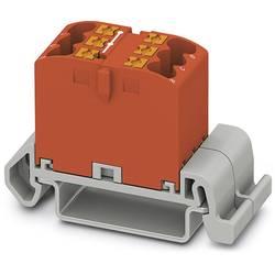 Phoenix Contact PTFIX 6X2,5-NS35A RD 3273136 Razdelilni blok 0.14 mm² 2.50 mm² Rdeča 10 KOS