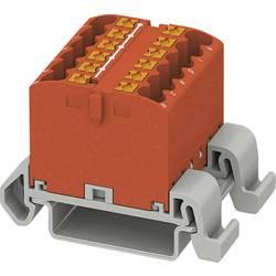 Phoenix Contact PTFIX 12X2,5-NS35A RD 3273158 Razdelilni blok 0.14 mm² 2.50 mm² Rdeča 8 KOS