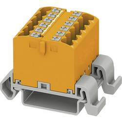 Phoenix Contact PTFIX 12X2,5-NS35A OG 3273172 Razdelilni blok 0.14 mm² 2.50 mm² Oranžna 8 KOS