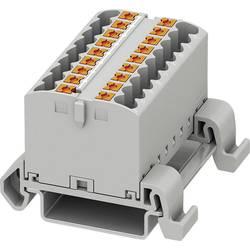 Phoenix Contact PTFIX 18X2,5-NS35A GY 3273176 Razdelilni blok 0.14 mm² 2.50 mm² Siva 8 KOS