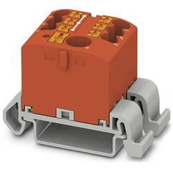 Phoenix Contact PTFIX 6/6X2,5-NS35A RD 3273202 Razdelilni blok 0.14 mm² 2.50 mm² Rdeča 10 KOS