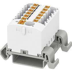 Phoenix Contact PTFIX 6/12X2,5-NS35A BK 3273234 Razdelilni blok 0.14 mm² 2.50 mm² Črna 8 KOS