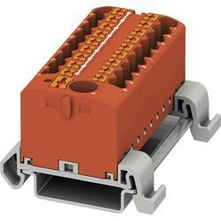 Phoenix Contact PTFIX 6/18X2,5-NS35A RD 3273246 Razdelilni blok 0.14 mm² 2.50 mm² Rdeča 8 KOS