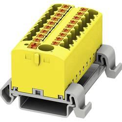Phoenix Contact PTFIX 6/18X2,5-NS35A YE 3273248 Razdelilni blok 0.14 mm² 2.50 mm² Rumena 8 KOS