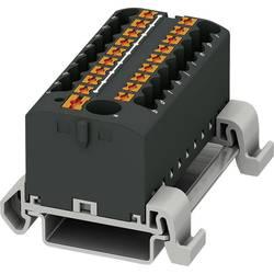 Phoenix Contact PTFIX 6/18X2,5-NS35A BK 3273256 Razdelilni blok 0.14 mm² 2.50 mm² Črna 8 KOS