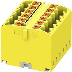 Phoenix Contact PTFIX 12X2,5 YE 3273292 Razdelilni blok 0.14 mm² 2.50 mm² Rumena 8 KOS