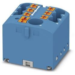 Phoenix Contact PTFIX 6/6X2,5 BU 3273332 Razdelilni blok 0.14 mm² 2.50 mm² Modra 10 KOS