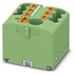 Phoenix Contact PTFIX 6/6X2,5 GN 3273338 Razdelilni blok 0.14 mm² 2.50 mm² Zelena 10 KOS