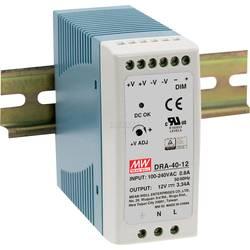 Mean Well DRA-40-12 DIN-napajanje (DIN-letva) 12 V/DC 3.34 A 40.08 W 1 x