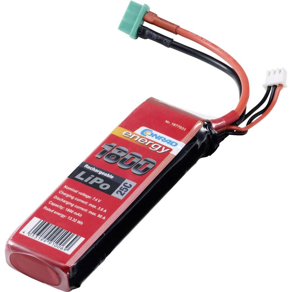 LiPo akumulatorski paket za modele 7.4 V 1800 mAh Število celic: 2 25 C Conrad energy MPX