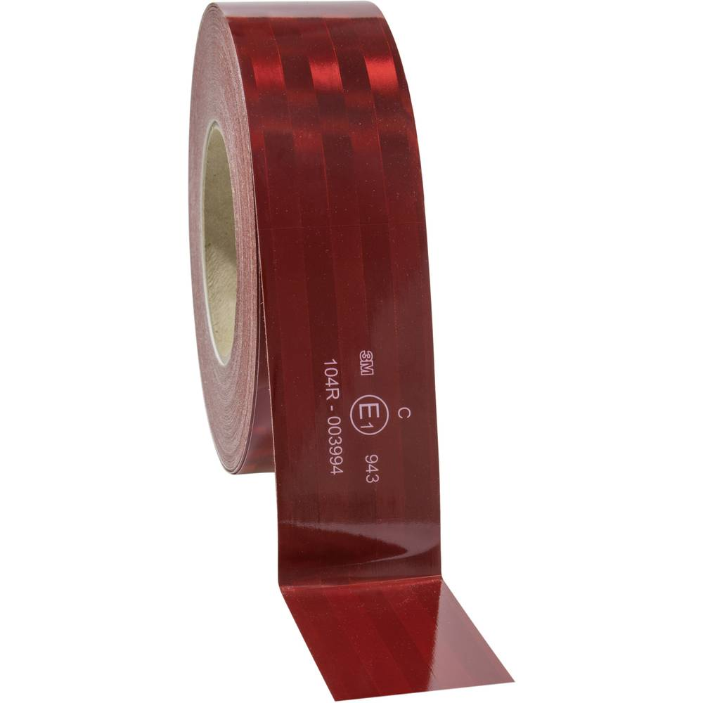 3M 943-72 743884 Rdeča (odsevna) (D x Š) 50 m x 51 mm Za fiksne strukture, Mikroprizmatičen, Prilagodljiv