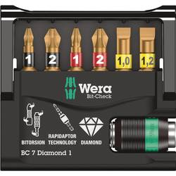 Bit komplet 7-dijelni Wera Bit-Check 7 Diamond 1 05073419001