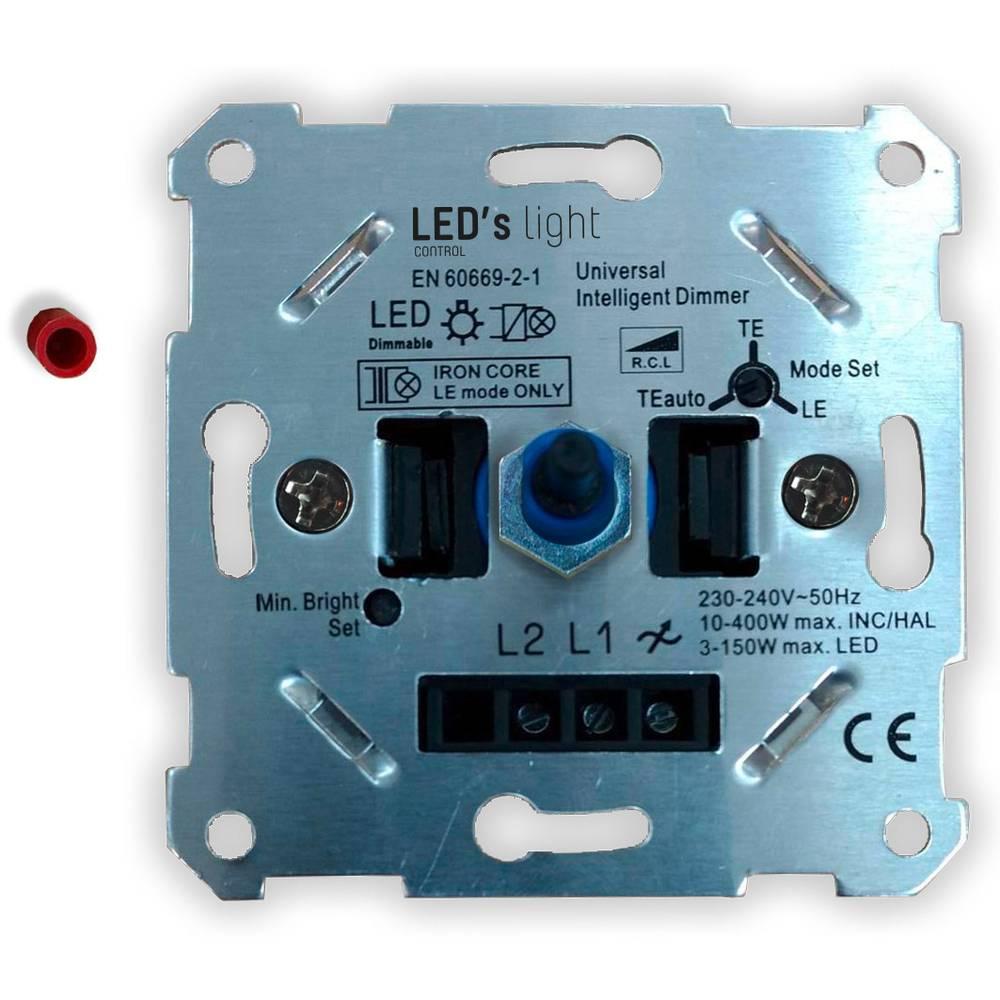 Shada 0190010 podometni zatemnilnik Primerno za svetilke: LED žarnica aluminij