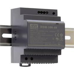 Mean Well HDR-100-48 DIN-napajanje (DIN-letva) 48 V/DC 1.92 A 92.2 W 1 x