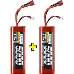 lipo akumulatorski paket za modele 7.4 V 5000 mAh Broj ćelija: 2 30 C Conrad energy kutija tvrda T-utičnica