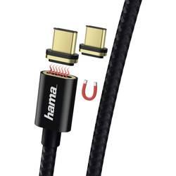 Hama USB 2.0 priključni kabel [1x moški konektor USB 2.0 tipa a - 1x moški konektor USB-C™] 1.00 m črna