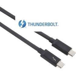 Hama Thunderbolt™ 3 priključni kabel [1x moški konektor c Thunderbolt 3 - 1x moški konektor c Thunderbolt 3] 1.00 m črna