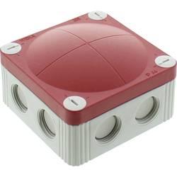 Wiska 10107390 Odcepna omarica (D x Š x V) 85 x 85 x 51 mm Sivo-bela (RAL 7035), Rdeča