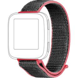 Rezervna zapestnica Topp für Fitbit Versa Rdeča, Siva