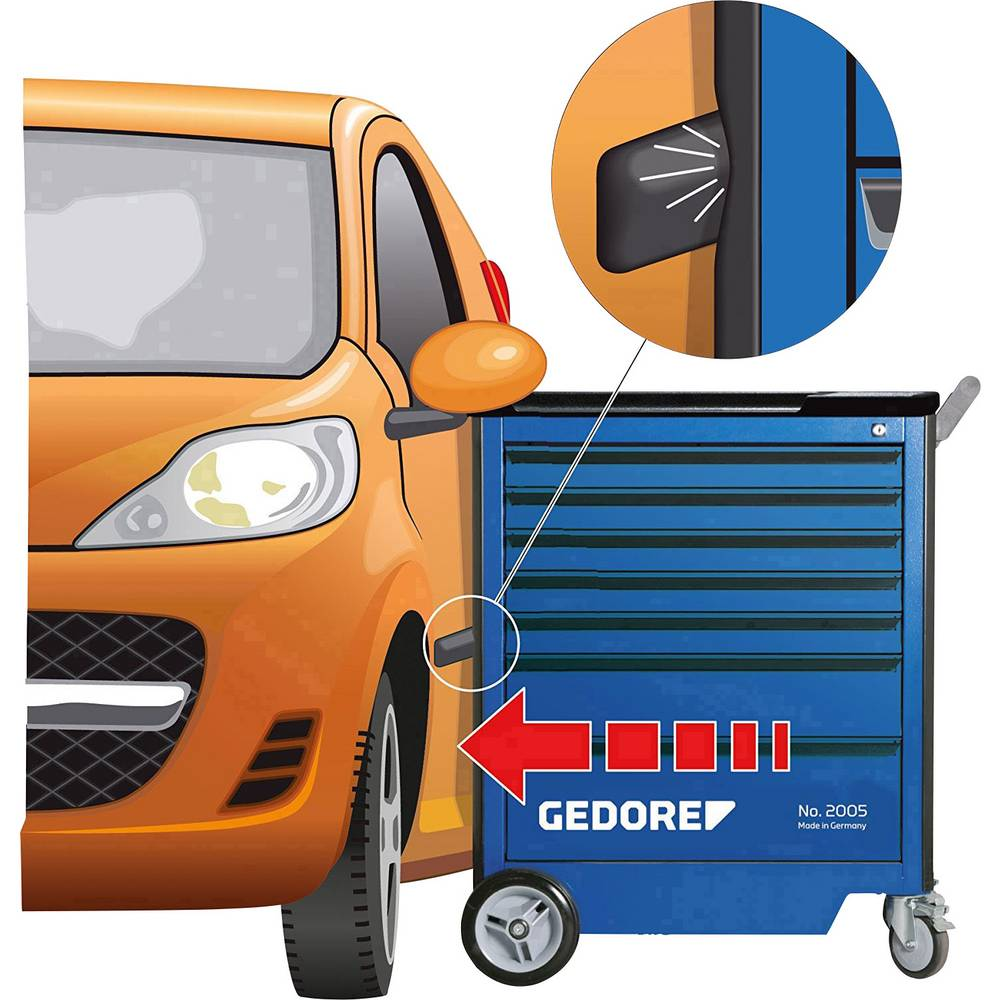Gedore 2827379 2005 0511 E - GEDORE kolica za alate s jednostrukim izvlačenjem dimenzije:(Š x V) 775 mm x 985 mm
