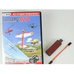 simulator letenja za modelarstvo Ikarus aeroflyRC8 z vmesnikom graupner/hott