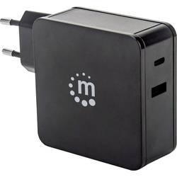 Manhattan 180214 USB napajalnik vtičnica Izhodni tok maks. 3 A 2 x ženski konektor USB 2.0 tipa a, ženski konektor USB-C™