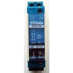 sklopni relej 1 St. Eltako R12-110-24V Nazivni napon: 24 V Prebacivanje struje (maks.): 8 A 1 zatvarač, 1 otvarač