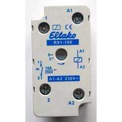 sklopni relej 1 St. Eltako R91-100-230VAC Nazivni napon: 230 V Prebacivanje struje (maks.): 8 A 1 zatvarač