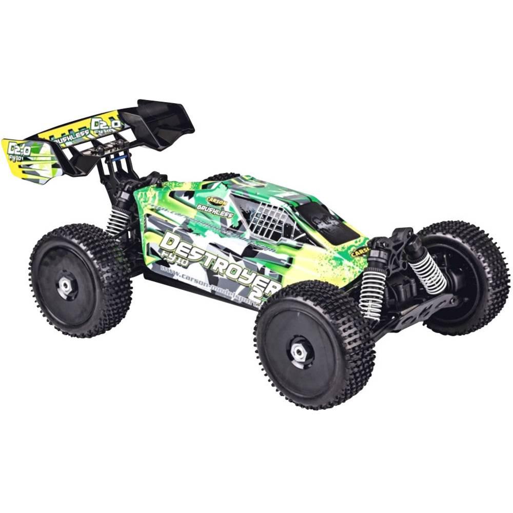 Carson Modellsport Destroyer 2.0 2S brez ščetk 1:10 RC Modeli avtomobilov Elektro Buggy Pogon na vsa kolesa (4WD) 100% RtR 2,4 G