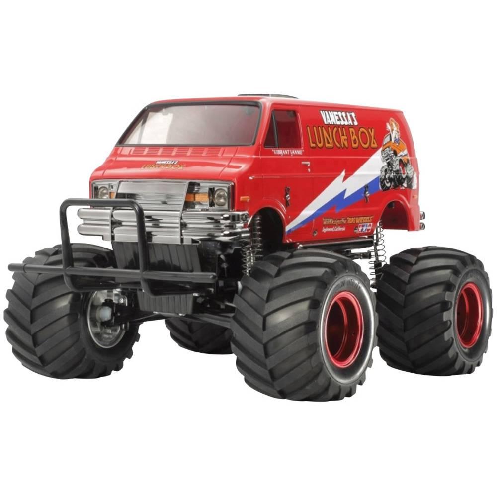 Tamiya Lunch Box Red Edition s ščetkami 1:10 RC Modeli avtomobilov Elektro Monster Truck Zadnji pogon (2WD) Komplet za sestavlja