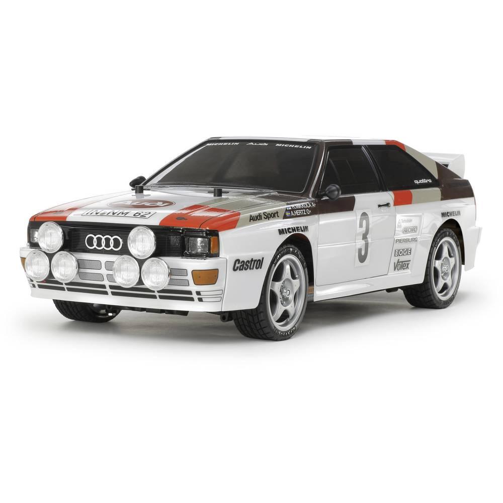 Tamiya Audi Quattro Rally s ščetkami 1:10 RC Modeli avtomobilov Elektro Cestni model Pogon na vsa kolesa (4WD) Komplet za sestav