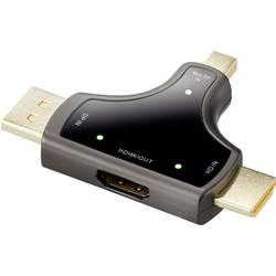 Renkforce DisplayPort / HDMI Adapter [3x Moški konektor DisplayPort, Moški konektor Mini DisplayPort, Moški konektor HDMI - 1x Ž