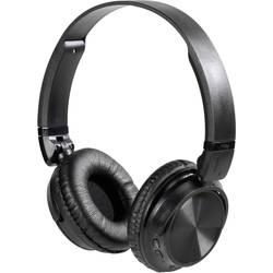 Vivanco MOOOVE AIR BLACK bluetooth® hifi on ear slušalke on ear zložljive, naglavni komplet, ušesno držalo črna