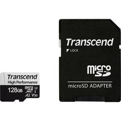 Transcend Premium 330S microSDXC-kartica 128 GB Class 10, UHS-I, UHS-Class 3, v30 Video Speed Class A2 standard, Vključen SD-ada